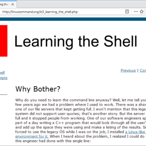 learning the shell