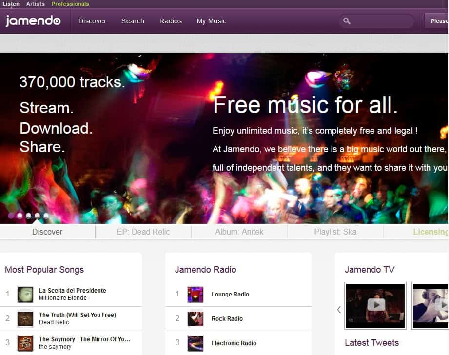 how to download songs from jamendo