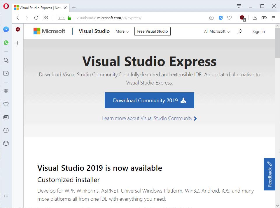 visual studio express download