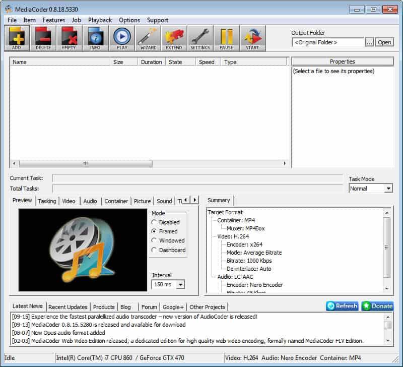 Media Coder Audio Video Transcoder - gHacks Tech News