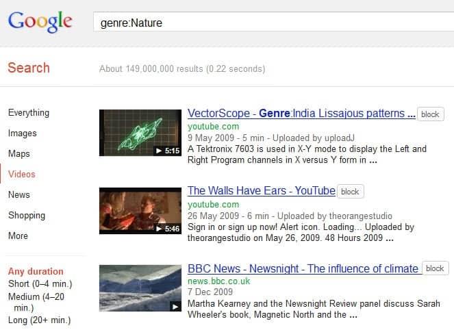 Google Video Hidden Categories - gHacks Tech News