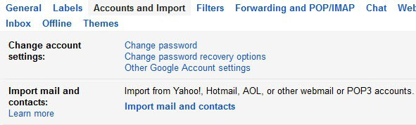 import emails gmail