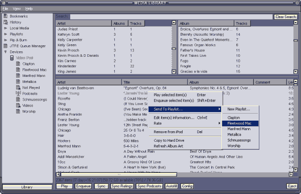 winamp ipod plugin