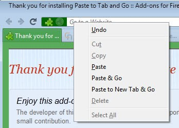 paste and go