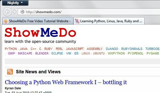 ShowMeDo Free Video Tutorial Website - gHacks Tech News