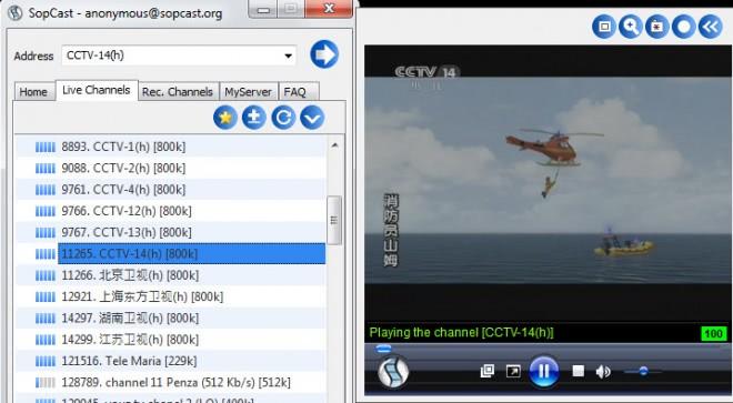sopcast tv over internet