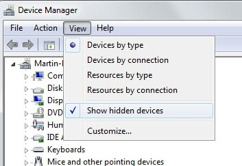 show hidden devices windows