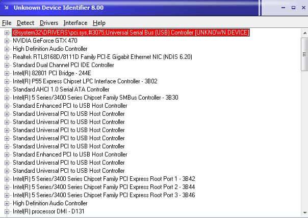 unknown device identifier screenshot