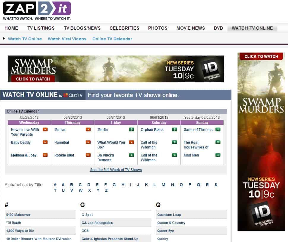Big List Of Online Tv Services Ghacks Tech News