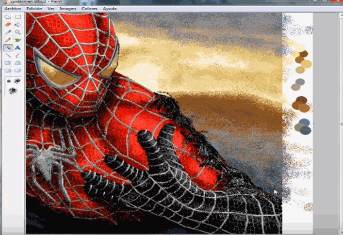 spiderman paint