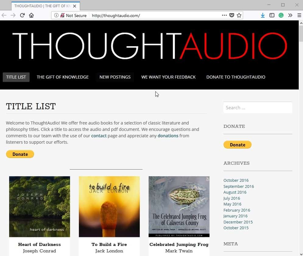 thought audio audiobooks