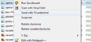 Add Send File as Email Attachment to Windows Explorer