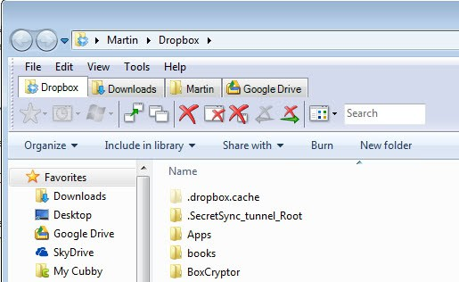 windows explorer tabs