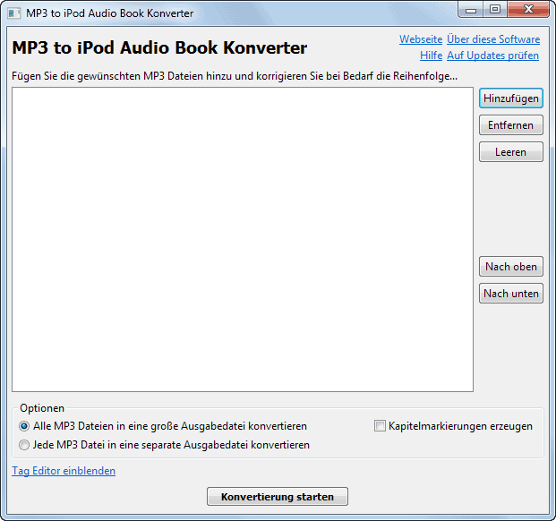 Mp3 to iPod Audio Book Converter - gHacks Tech News