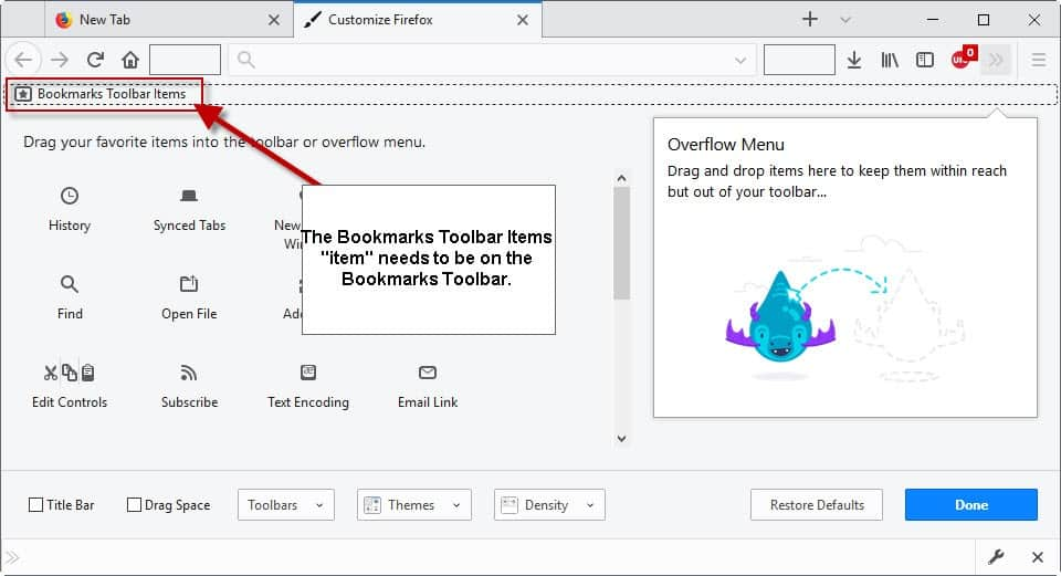 bookmarks toolbar firefox