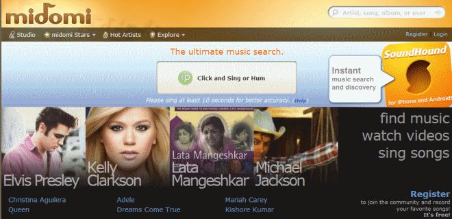 midomi song identification