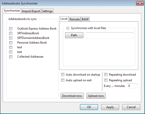 addressbook synchronizer