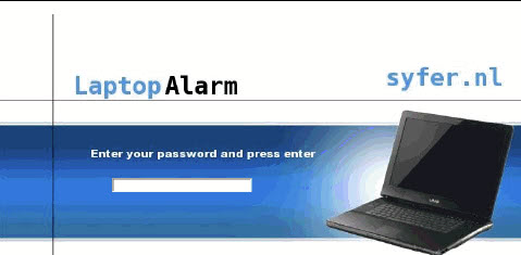 laptop alarm