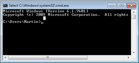 command prompt change default location