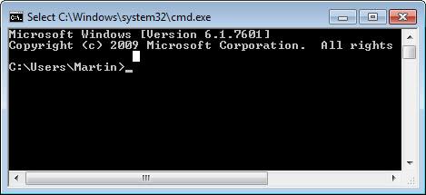 command prompt change default location