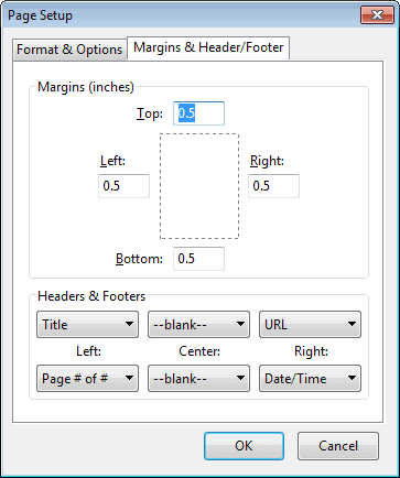 firefox margins header footer