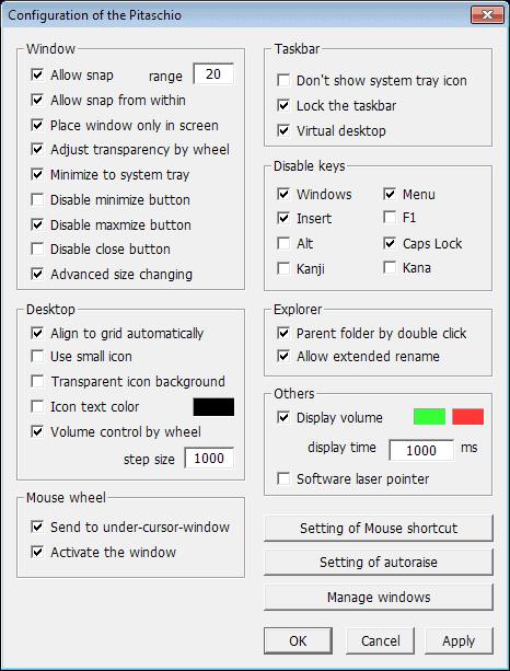 mouse windows customization