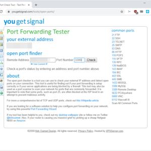 port forwarding tester