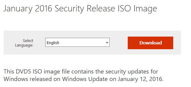 security release iso image