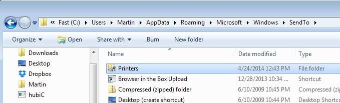 send to printers