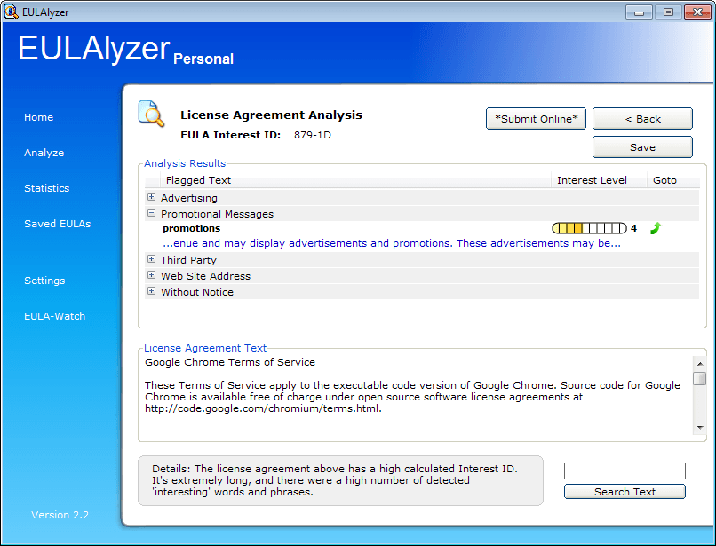 analyze license agreements