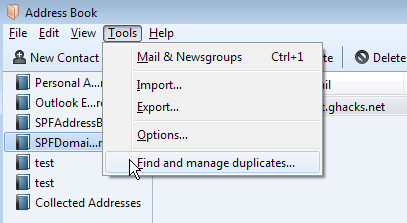 find manage duplicates
