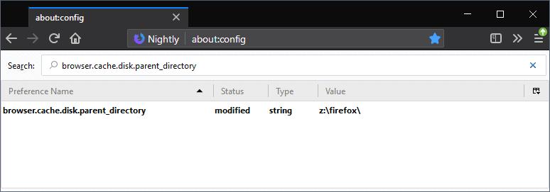 firefox cache directory
