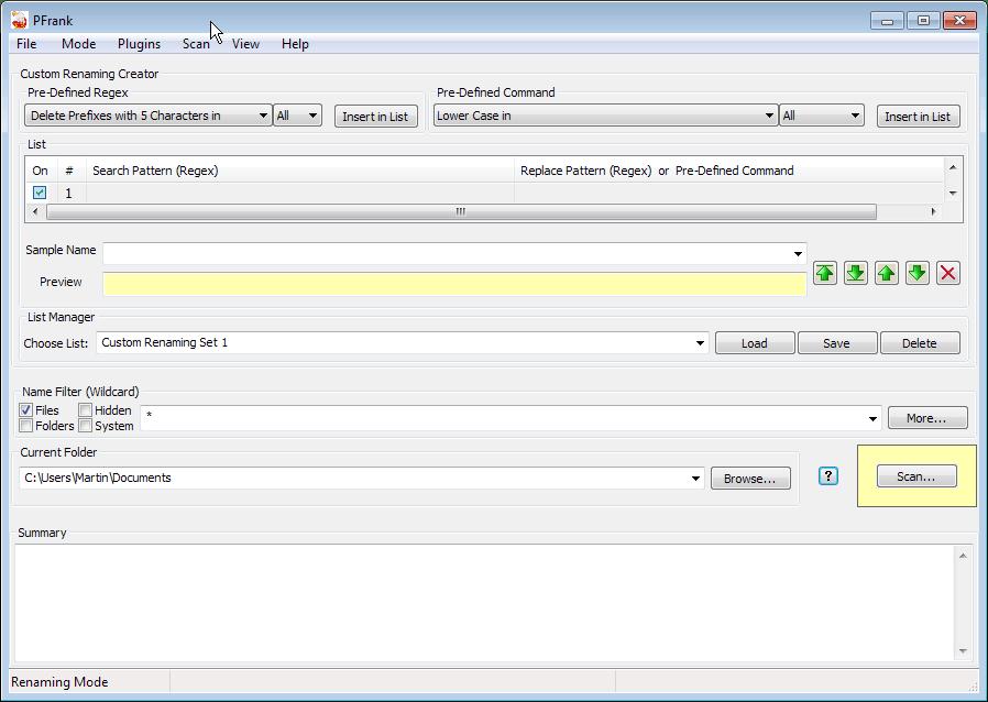 PFrank File Renamer - gHacks Tech News