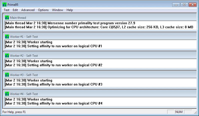 prime95 stress test