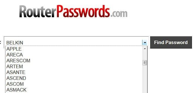 router passwords