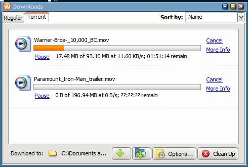 Wyzo an alternative to Bittorrent clients?
