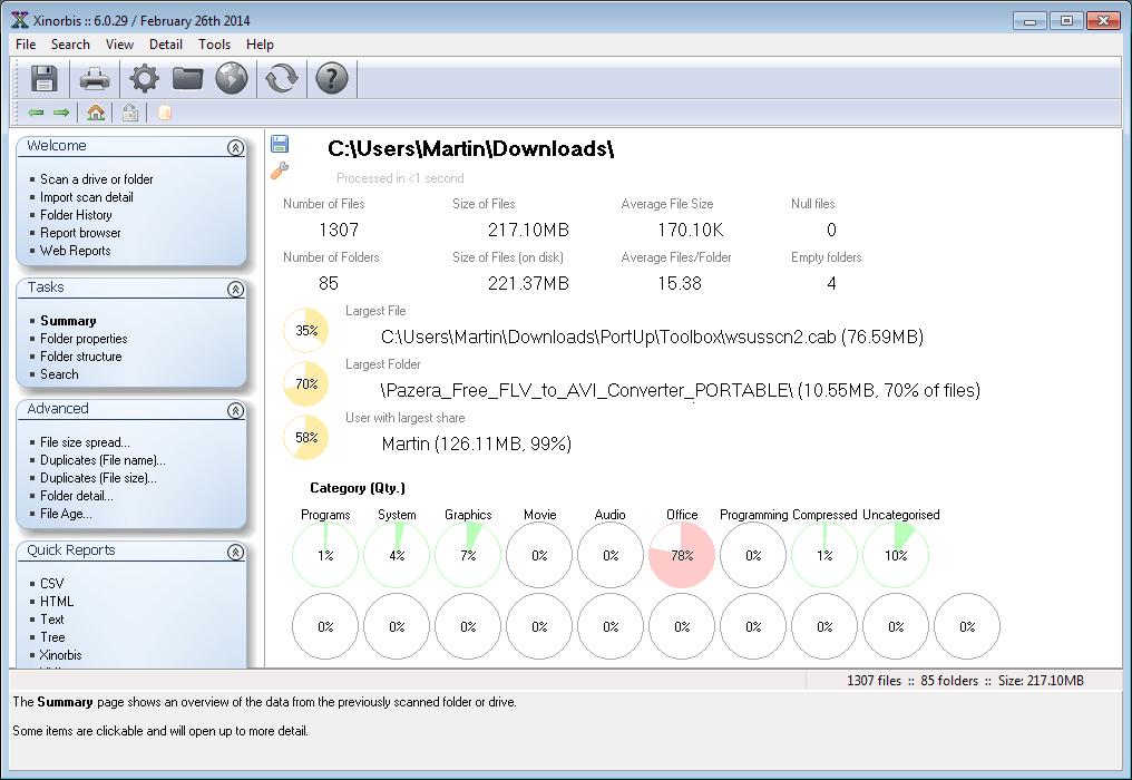 xinorbis hard drive analyzer