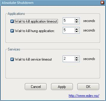Reduce Windows XP Shutdown Time