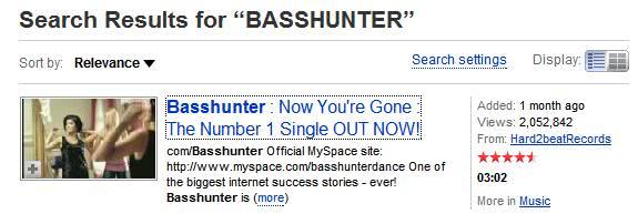 basshunter youtube
