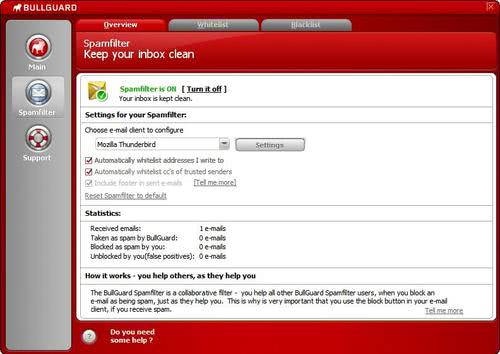bullguard spam filter