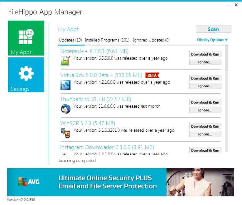 filehippo app manager
