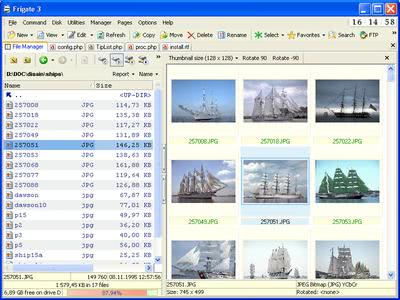 file manager frigate3