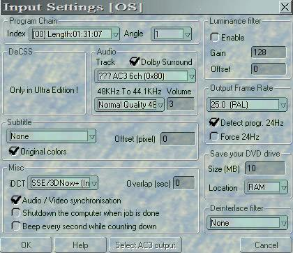 input settings dvdx