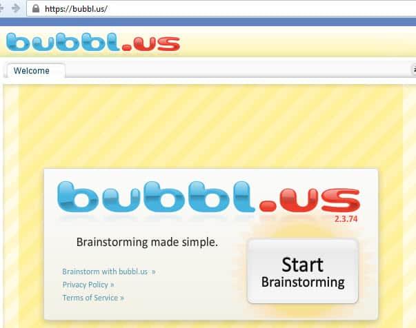 mindmap bubble,us