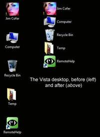 vista desktop with smaller icons