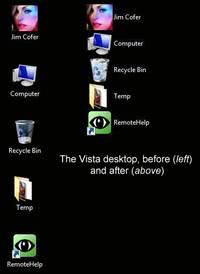 vista desktop with smaller icons