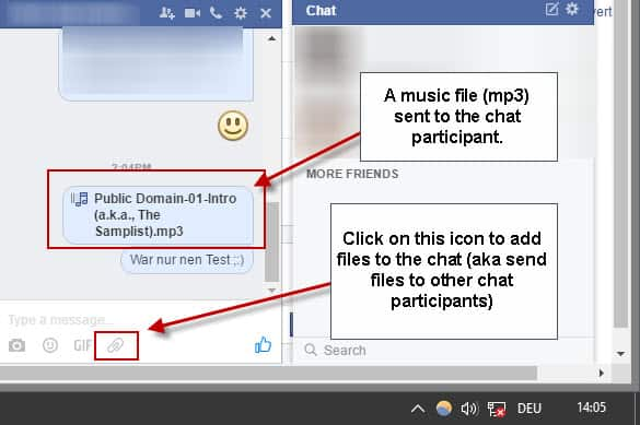 Send Music to your Facebook Friends