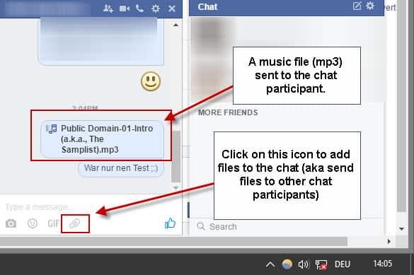 facebook send music
