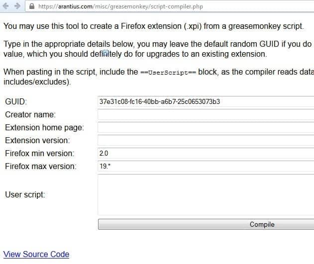 greasemonkey firefox extensions screenshot