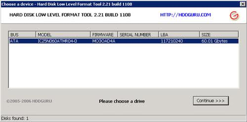 hdd low level format